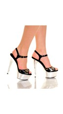 The Lady Is a Vamp Metal Plate Platform Heel