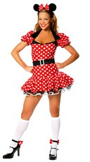 Adult Polka Dot Mouse Costume