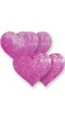 Neon Pink Rio Heart Pasties