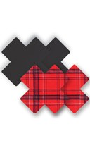 Save the Queen Plaid Cross Pasties