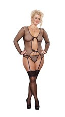 Plus Size Fishnet Teddie Set