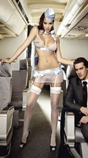 Plus Size First Class Flight Attendant Lingerie Set