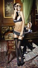 Sexy Pinstripe Secretary Lingerie Set