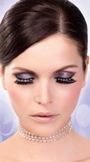 Sexy Black and White Rhinestone Eyelashes