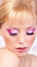 Black and Baby Pink Rhinestone Eyelashes