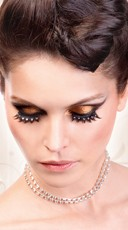 Black and White Crystal Rhinestone Eyelashes