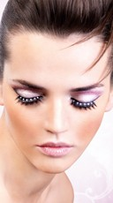 Black and White Sexy Rhinestone Eyelashes