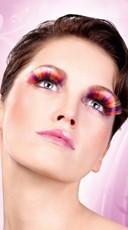 Purple, Orange and Yellow Glitter Eyelashes