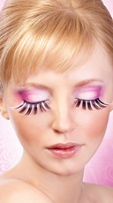 Pink and Black Glitter Eyelashes