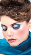 Blue, Green, and Purple Rhinestone Eyelashes