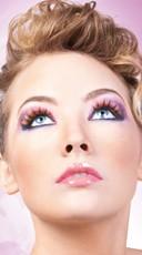 Purple, Yellow, Orange and Blue Deluxe False Eyelashes