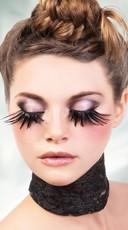 Exotic Black Feather Eyelashes