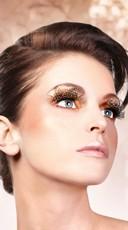 Classy Brown Polka Dot Feather Eyelashes