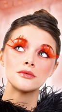 Red Branch Feather Eyelashes