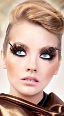Black and Brown Polka Dot Feather Eyelashes