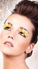 Yellow Orange Feather Eyelashes