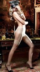 Nude Faux Garter Pantyhose