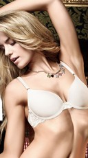 Basic Ivory Bra with Lace