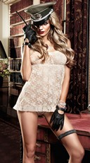 Ivory Floral Lace Chemise
