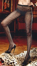 Black Diamond Patterned Pantyhose