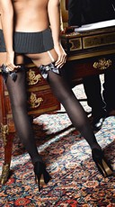 Sheer Thigh Highs with Bows