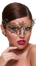 Golden Goddess Eye Mask with Crystals