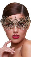 Queen of Decadence Gold Eye Mask