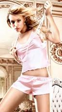 Pink Satin Cami and Shorts Set