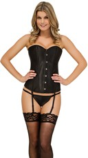 Plus Size Classic Sweetheart Corset and G-String