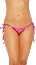 Metallic Side Tie Scrunch Back Bikini Panty