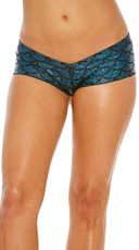 Metallic Scale Print Scrunch Boyshort