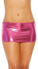 Metallic Peek-A-Boo Mini Skirt