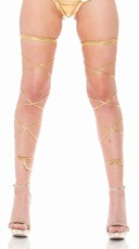 Metallic Leg Wrap with Thigh High Band