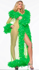 Deluxe Green Feather Robe