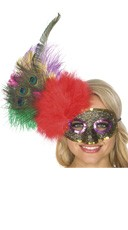 Feather Side Costume Mask