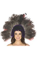 Grey Feather Headdress