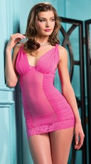Pink Ruched Side Chemise