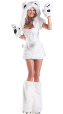 Polar Bear Babe Costume