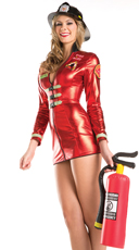 Tempting Flames Firefighter Costume