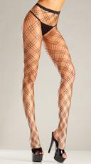 Triple Diamond Net Pantyhose
