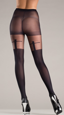Pantyhose With Cross Design