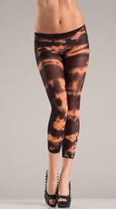 Orange Tie Dye Footless Pantyhose
