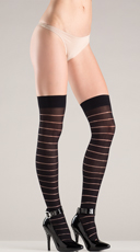 Flirty Striped Thigh Highs