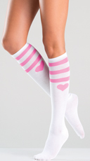 Pink Athletic Knee Highs