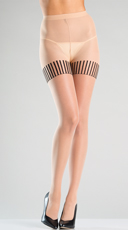 Tights With Bow Back Seam