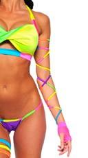 Electric Neon Multicolor Spaghetti Wrap