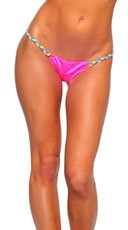 Colorful Kandi Strap Ruched Bottom