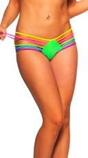 Rainbow Strap Hipster Panty