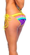 Neon Multicolor Ruffle Rhumba Bottom