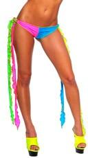 Neon Long Tie Go-Go Bottoms